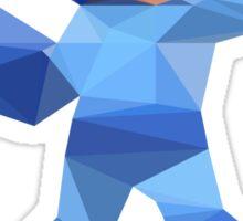 """De-Rezzed Mega Man"" - Low Polygon Art Sticker"