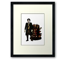 The War Doctor and Dalek Framed Print