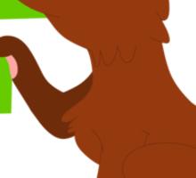 f for fox Sticker
