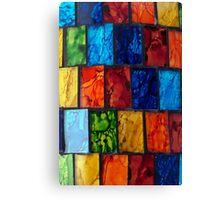 Coloured Tiles Canvas Print