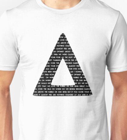 Bastille Triangle - Pompeii lyrics Unisex T-Shirt