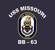 USS Missouri (BB-63) Crest for Dark Colors Unisex T-Shirt