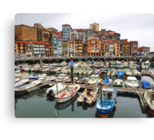 Bermeo Seaport Canvas Print