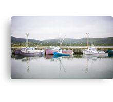 Fishing Boats, Cape Breton Island Canvas Print