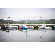 Fishing Boats, Cape Breton Island Photographic Print