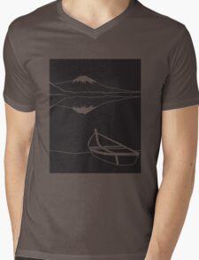 Mount Fuji night Mens V-Neck T-Shirt