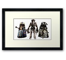 Destroyed Daleks and Rogue Cyberman Framed Print