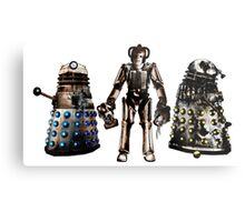 Destroyed Daleks and Rogue Cyberman Metal Print