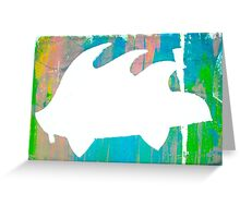 Psychedelic Porky Pine  Greeting Card