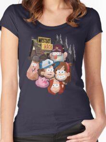 Gravity Falls (Geometric) Women's Fitted Scoop T-Shirt