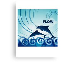 Dolphin Flow  Canvas Print