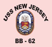 USS New Jersey (BB-62) Crest One Piece - Long Sleeve