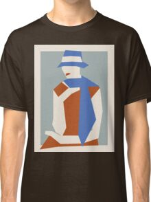 Woman In Blue Hat Classic T-Shirt