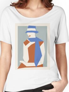 Woman In Blue Hat Women's Relaxed Fit T-Shirt
