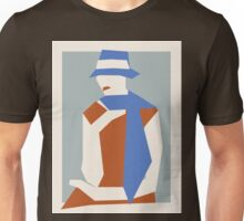 Woman In Blue Hat Unisex T-Shirt
