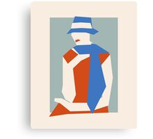 Woman In Blue Hat Canvas Print