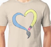 Peace, Love & Art Unisex T-Shirt
