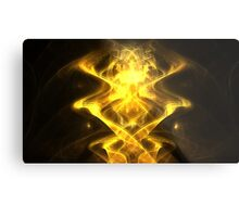 Golden Magnet Metal Print
