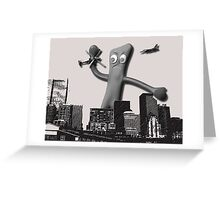 When Gumby Attacks Greeting Card