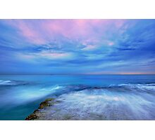 The Ocean at Dusk Photographic Print
