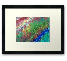 Rainbow Rock Framed Print