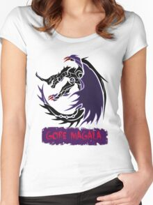 The Circular Black Eclipse Wyvern Women's Fitted Scoop T-Shirt