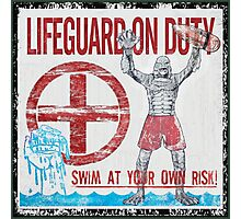 The Lifeguard Creature Is On Duty (2) Photographic Print