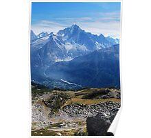 Paraglider above Chamonix Valley Poster