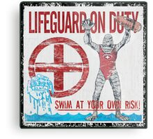 The Lifeguard Creature Is On Duty (1) Metal Print