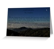 """ In the beginning "" Greeting Card"