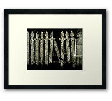 White Picket Fance Framed Print