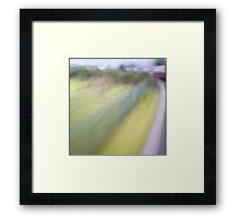 Steam Train Abstract Framed Print