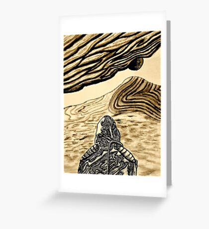 Escaping Arrakis  Greeting Card