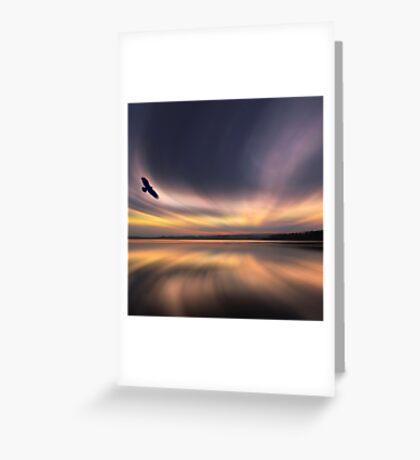 Golden Eagle Dawn by David Alexander Elder Greeting Card