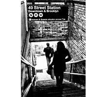 49th Street Subway Station Photographic Print