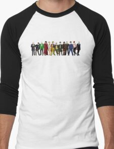 Doctor Who - 13 Doctors lineup Men's Baseball ¾ T-Shirt