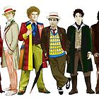 Doctor Who - 13 Doctors lineup by Chris Singley