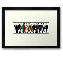 Doctor Who - 13 Doctors lineup Framed Print