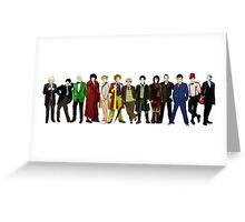 Doctor Who - 13 Doctors lineup Greeting Card