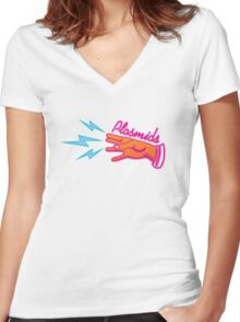 """Plasmids"" sign Women's Fitted V-Neck T-Shirt"