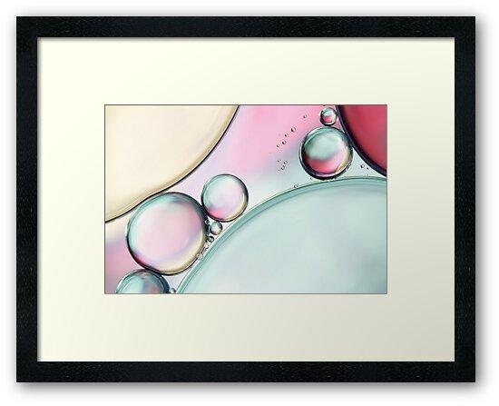 Aqua Fresh Bubble Abstract by Sharon Johnstone
