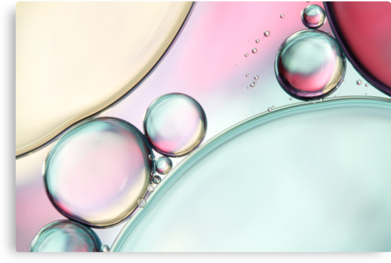 Aqua Fresh Bubble Abstract by Sharon Johnstone