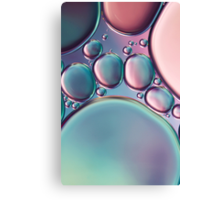 Bubbles in Pink & Blue Canvas Print
