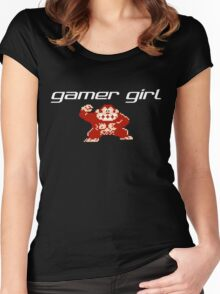 Gamer Girl - Donkey Kong Women's Fitted Scoop T-Shirt