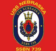 USS Nebraska (SSBN-739) Crest for Dark Colors Unisex T-Shirt