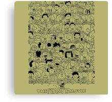the peanuts movie characters Canvas Print