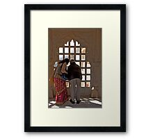 Through the Palace Window Framed Print