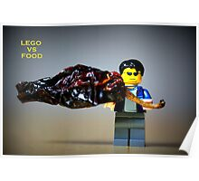 Lego vs Food Poster