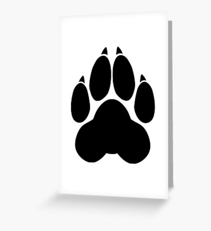 Wolf PawPrint Greeting Card
