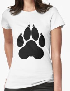 Wolf PawPrint Womens Fitted T-Shirt